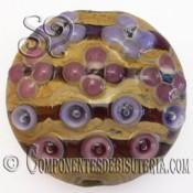 Abalorio Colgante de Cristal Multicolor