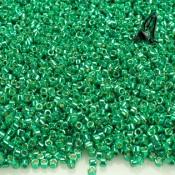 DELICAS MIYUKI 11/0 DURACOAT GALVANIZED DARK MINT GREEN X 6GR