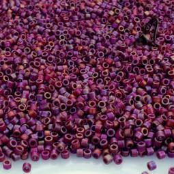 DELICAS MIYUKI 11/0 MATTED OPAQUE GLAZED TRILLIUM RED AB X 6 GR
