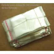 BOLSAS DE PLASTICO DE 8X12CM X 500 UDS