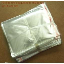 BOLSAS DE PLASTICO DE 14X20CM X 500 UDS
