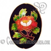 Cuenta Cloisonne Oval