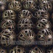BOLA METAL FILIGRANA DE 12MM BRONCE X 20 Uds