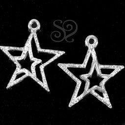 Pack de 2 Charms Estrella Plata