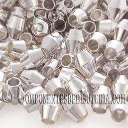 Tupi de Metal Plata (50uds)