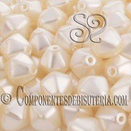 Tupis Cristal Checo Blanco Perlado (10Uds)