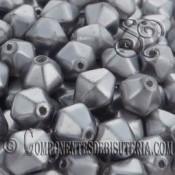 Tupis Cristal Checo Gris Perlado (10Uds)