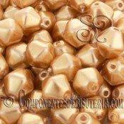 Tupis Cristal Checo Dorado Perlado (10Uds)