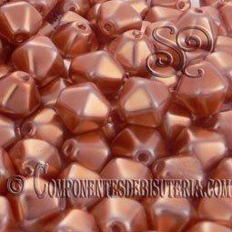 Tupis Cristal Checo Cobre Perlado (10Uds)