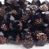 Cuenta de Cristal Checo Negro (5Uds)