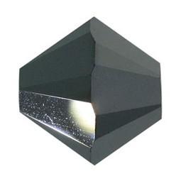 Tupis Cristal Swarovski Jet Hematite 2x