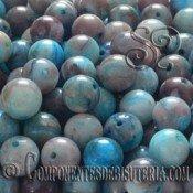 Agata Azul 6mm (10uds)
