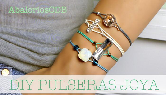 1c03050c191a DIY Cómo hacer pulseras joya - DIY Rhinestone Cord Bracelet ...