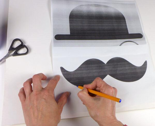 Marcar el contorno del dibujo